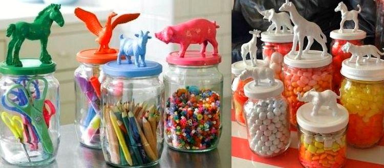 DIY : quelques astuces efficaces pour ranger des petits objets en utilisant des bocaux