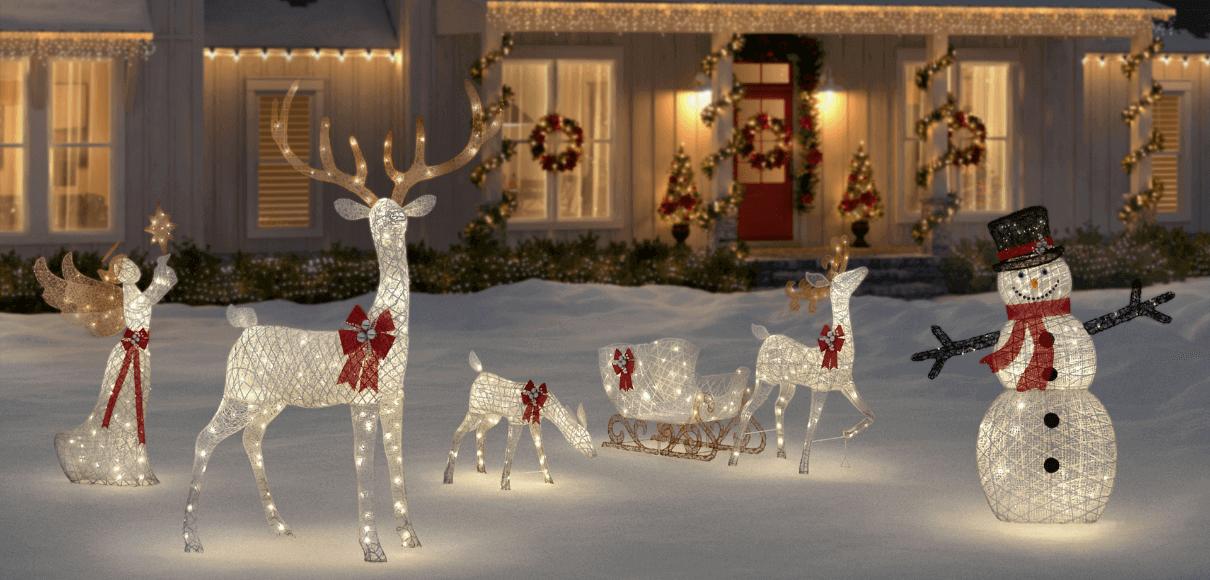 Astuces pour une déco jardin de Noël à moindre coût