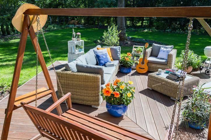 Au jardin, abri et espace détente